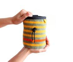 Crochet Chalk Bag. Knitted Chalkbag. Rock by ChalkBagsNadamlada
