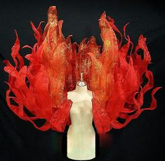 Available colors are as shown. Showgirl Costume, Circus Costume, Carnival Costumes, Diy Costumes, Costume Ideas, Halloween Costumes, Fire Costume, Phoenix Costume, Fire Crafts