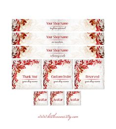 ETSY SHOP BANNERS Vintage Red by BestBanners on Etsy, $15.00