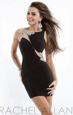 Embellished Cut-Out Back Dress by Rachel Allan Short 2773