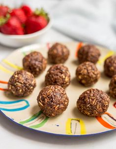 These 10-minute no-bake chocolate cookie balls use just 6 wholesome ingredients for an easy, tasty snack that's also gluten-free and vegan!