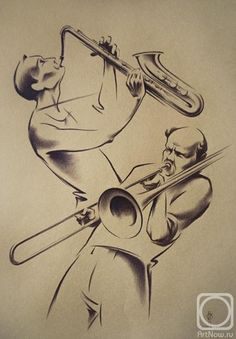 Ильдюков Олег. JAZZ-2 Music Painting, Art Music, Music Artists, Art Sketches, Art Drawings, Jazz Art, Arte Jazz, Jazz Poster, Art Japonais