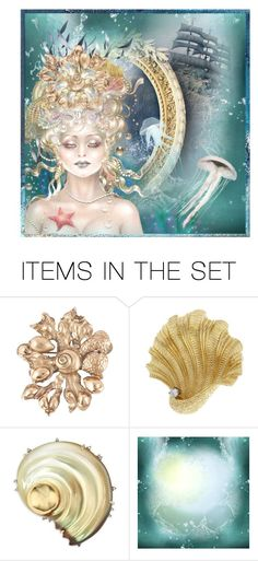 """Undersea Witchery"" by valeria-meira ❤ liked on Polyvore featuring art"