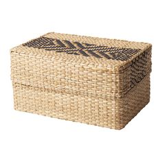 IKEA - VIKTIGT, Basket with lid, Each basket is woven by hand and is therefore unique.Suitable for storing small items like jewelry, scarves or other accessories.