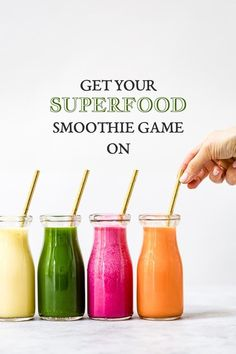 Delicious Superfood smoothies that you can enjoy with no guilt. Superfood Smoothies, Beet Smoothie, Superfood Salad, Superfood Recipes, Smoothie Prep, Raspberry Smoothie, Smoothie Drinks, Healthy Smoothies, Health Foods