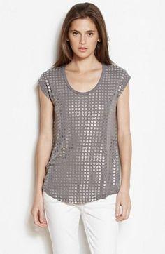 Slouchy Grommet Tee - Tee Shirts - Womens Sale - Armani Exchange- in grey