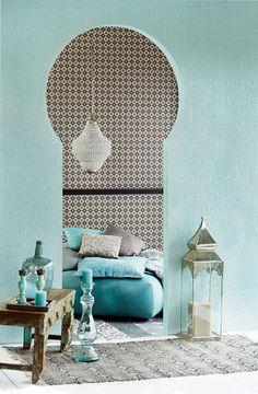 Moroccan inspired room. #bright #moroccan #interiors