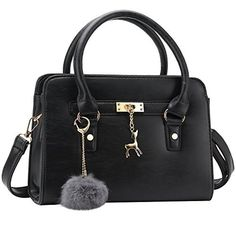 Bagerly Women Fashion PU Leather Shoulder Bags Top-Handle Handbag Tote Bag Purse Crossbody Bag - New Deals USA
