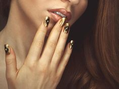 Golden Egyptian Nails