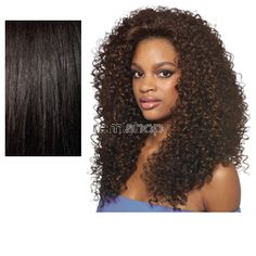Sun Aug 7, 2016 - #9: Quick Weave Batik Bundle Hair Dominican Curly  - Color 1B - Synthetic (Curling Iron Safe) Half Wig