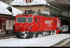 High quality photograph of Matterhorn Gotthard Bahn II # MGB 106 at Graubünden, Switzerland.