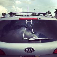 The cats tail of the window decal is the wiper