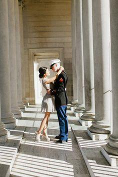 Alisha + Joey Military Engagement  Photo By Jasmine Lee Photography