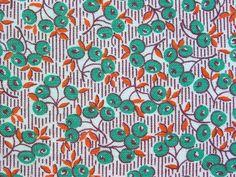 Vintage Feedsack Sprig and Berry by Niesz Vintage Fabric, via Flickr