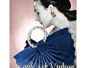 Look Vintage, Unique Vintage, Vintage Crochet Patterns, Purse Handles, Zig Zag Pattern, 1940s, Digital Pattern, Purses And Handbags, Crochet Earrings