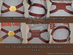 Ahsoka Cosplay-Belt-Wip by ~Ahsoka114 on deviantART - I like the style of this belt
