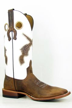 Anderson Bean Horse Power White Glove Pistol Cowgirl Boots