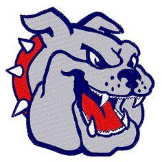 Bulldog Mascot embroidery design Embroidery Applique, Embroidery Patterns, Machine Embroidery, Mascot Design, Dog Design, Bulldog Clipart, Eagle Drawing, Pizza Logo, Bulldog Mascot