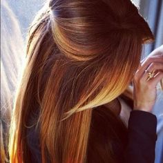 ombre hair -May just be the lighting, but I really like the way it looks in this pic