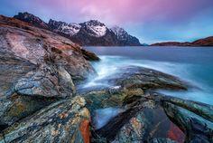 Magic light by PSchellig  landscape north light ocean rocks magic seascape Norway Lofoten Magic light PSchellig
