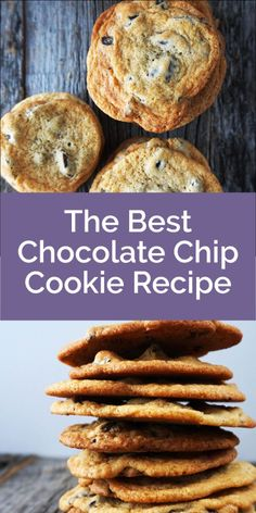 The best chocolate chip cookies loaded with chunks of chocolate and butter! Thin with crispy edges, these are delicious and easy to make.