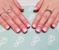 """Short ombre nails  127 Likes, 4 Comments - Pastille Beauty Bar (@pastillebeauty) on Instagram: """"Agnes, aka the Queen of Ombré, has done it again! Perfectly pink & ready for Valentine's """""""