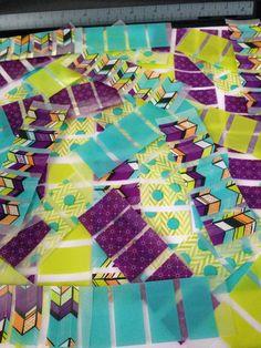 Washi Stickers for Erin Condren Life Planner (k49) - Aqua Green & Purple