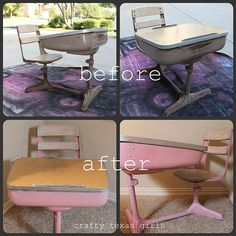 makeover and old school desk - I have one of these and can't wait to make it look nice like this
