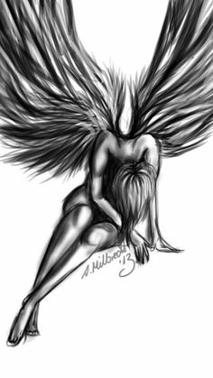 New drawing ideas fantasy fairies wings 49 ideas Fairy Drawings, Dark Art Drawings, Pencil Art Drawings, Art Drawings Sketches, Drawings Of Angels, Skull Tatto, Neck Tatto, Angle Tattoo, Angel Wings Drawing