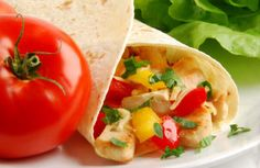 Fill 1 small corn tortilla with 3 oz chicken. Sprinkle on 2 Tbsp cheddar cheese and top with 2 Tbsp salsa. Warm in microwave if desired. 189 calories, 3 g fat