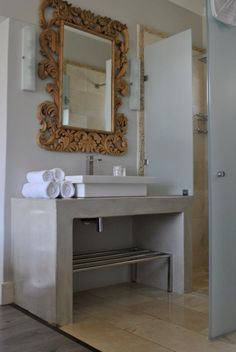 CreteCote used for a bathroom vanity