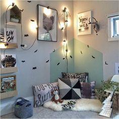 kids room // neutrals // abstract art // reading nook // the boo and the boy Kids Corner, Corner Nook, Reading Corner Kids, Kids Bedroom, Kids Rooms, Bedroom Decor, Bedroom Ideas, Nursery Decor, Kid Spaces