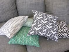 Hunter arrow cushion in emerald 45x45cm by belljarinteriors, $65.00