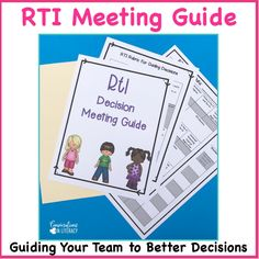 RTI Meeting Agenda and RTI Meeting Forms guide you as you use data forms for decision making during the RTI process. Response to Intervention forms for meetings help teachers make informed decisions about students and what tier should be next after progress monitoring has been completed. Great tool for RTI Committees! kindergarten, first grade, second grade, third grade, upper grades #RTI #readinginterventions #guidedreading #kindergarten, #first grade #conversationsinliteracy #classroomorganiz