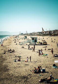 Manhattan & Hermosa Beach, Los Angeles, California - Some cousins lived just a few blocks from the beach in Hermosa when I was young.  Good memories of spending time at the beach with the family.