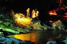 Nachtbilder in der Groppensteinschlucht Seen, How To Look Better, Waterfall, Seasons, Painting, Outdoor, Tourism, National Forest, Environment