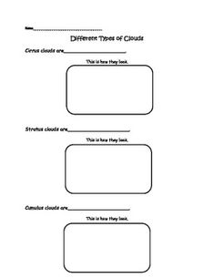 Printables Types Of Clouds Worksheet kindergarten student and types of on pinterest