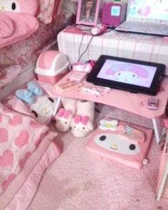 Room Design Bedroom, Room Ideas Bedroom, Dream Bedroom, Room Decor, Pastel Room, Pink Room, Kawaii Bedroom, Otaku Room, Cute Room Ideas