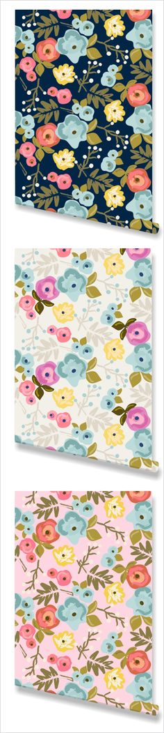 """""""Bloom"""" Wallpaper. Bedrooms, accent walls, or a feminine office."""