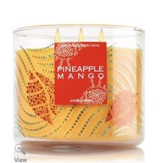 Bath And Bodyworks 3-Wick 14.5oz candle - PINEAPPLE MANGO