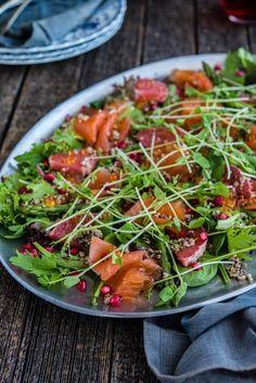 Smoked Salmon, Pomegranate and Quinoa Salad