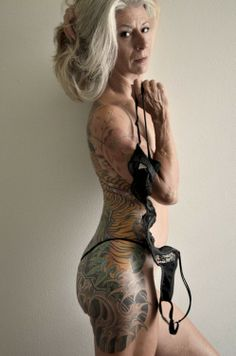 """what happens when you get old with those tattoos?"" This woman looks amazing with her tattoos!"