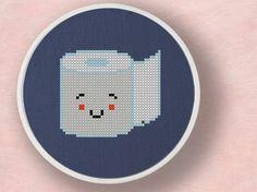 Toilet Paper. Cross Stitch PDF Pattern by andwabisabi on Etsy, $3.00