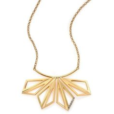 Tomtom Abstract Bouquet 18K Goldplated Bronze Crystal Pendant Necklace ($405) ❤ liked on Polyvore featuring jewelry, necklaces, apparel & accessories, gold, cut out necklace, swarovski crystal pendant, 18k pendant, swarovski crystal jewelry and gold plated necklace