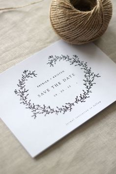 wedding invitation ideas | simple wedding stationery design | modern wreath illustration