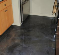 Designer Metallic Epoxy Kitchen Floor