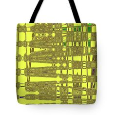Yellow And Brown Lines Tote Bag by Tom Janca.  The tote bag is machine washable, available in three different sizes, and includes a black strap for easy carrying on your shoulder.  All totes are available for worldwide shipping and include a money-back guarantee.