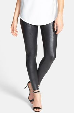 SPANX® Faux Leather Leggings available at #Nordstrom