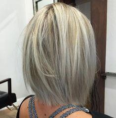 Ash Blonde Shoulder Length Bob