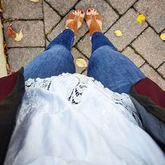 These puppies came out for a peep at the 70 degree weather- Happy humpday! #ootd #workstyle #mamaswithstyle #novemberwearwhatwhere #fallfashion #novemberphotochallenge #allthingsstylenovember #hauteinfall #hauteinnovember #instastyle #simplystylednovember
